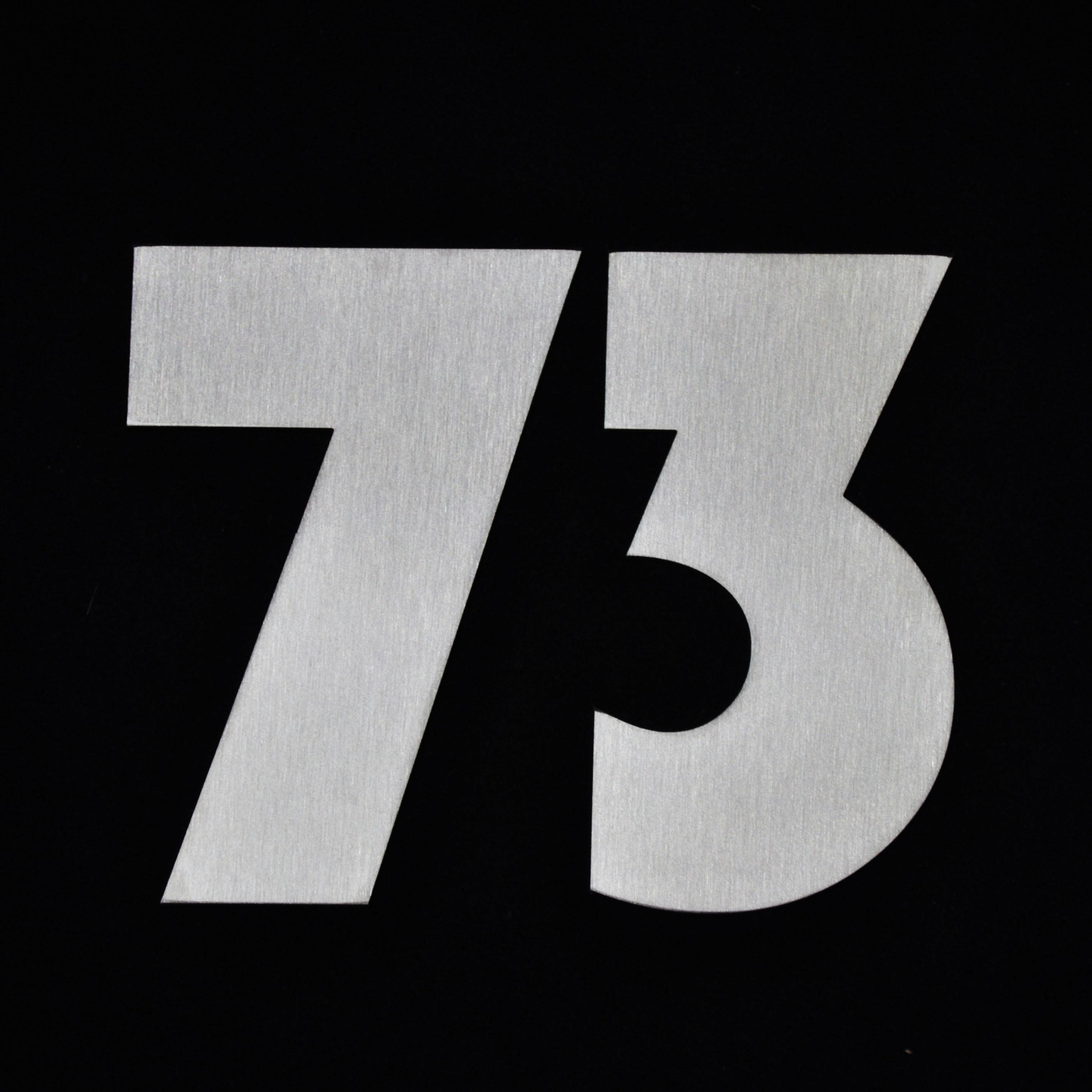 Edelstahl Hausnummer